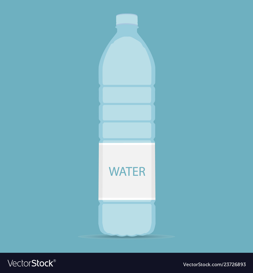 Bottle of water icon in flat style isolated on