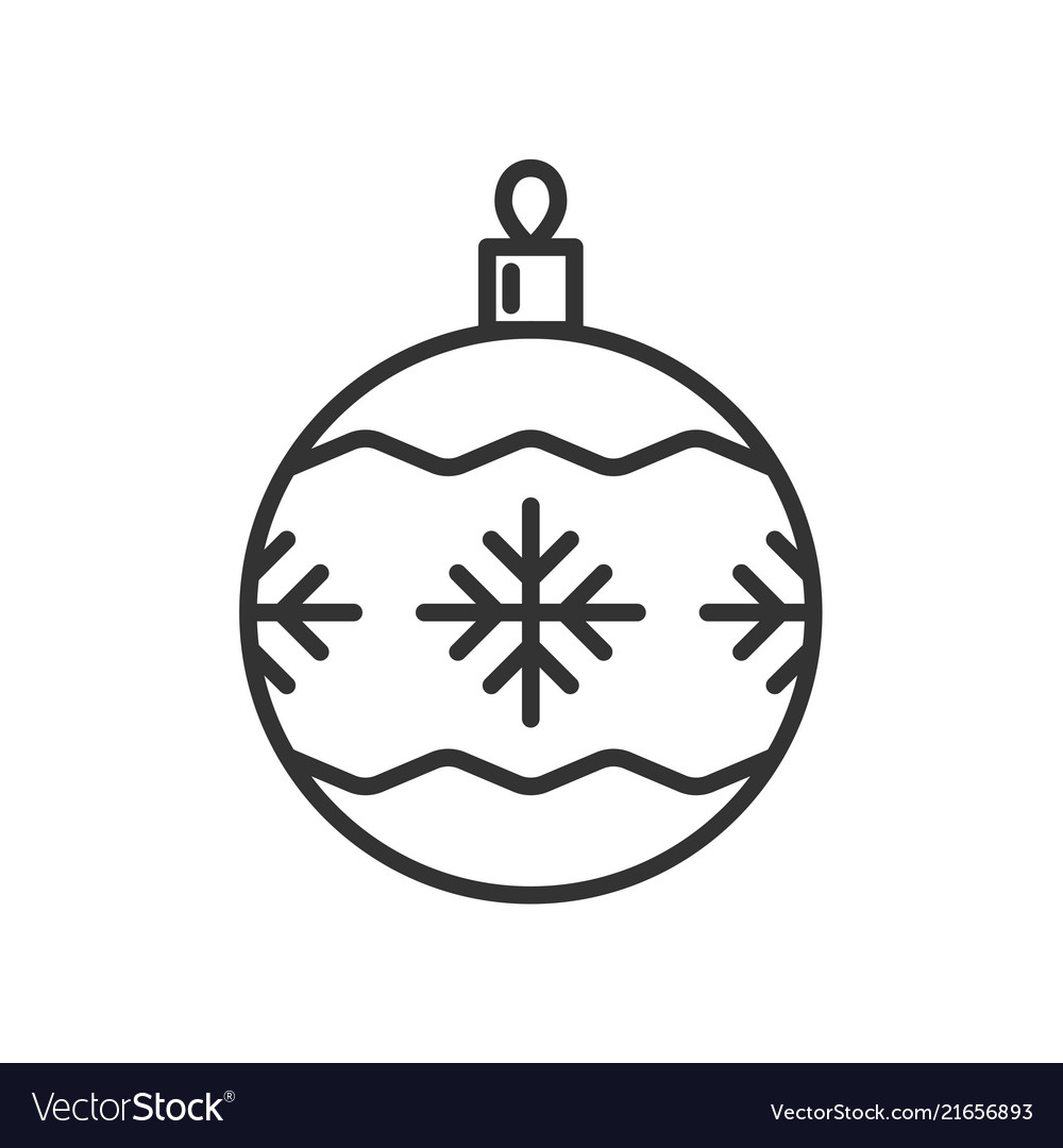 Christmas ball icon isolated on white background