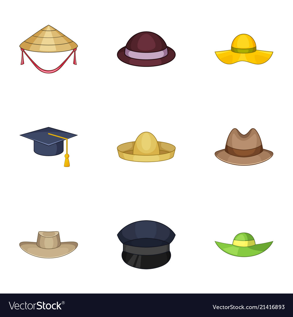 Cover head icons set cartoon style Royalty Free Vector Image 2d4f9e646c7d