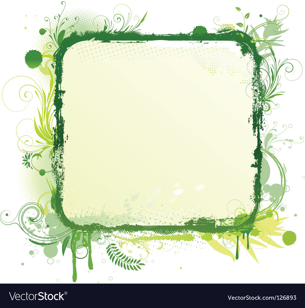 Floral decorative frame vector image