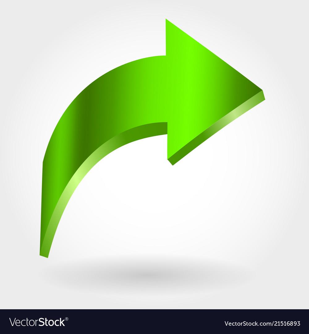 Green Arrow Pointing Upwards Royalty Free Vector Image