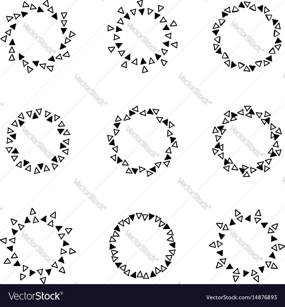 Hand drawn circle frames Royalty Free Vector Image