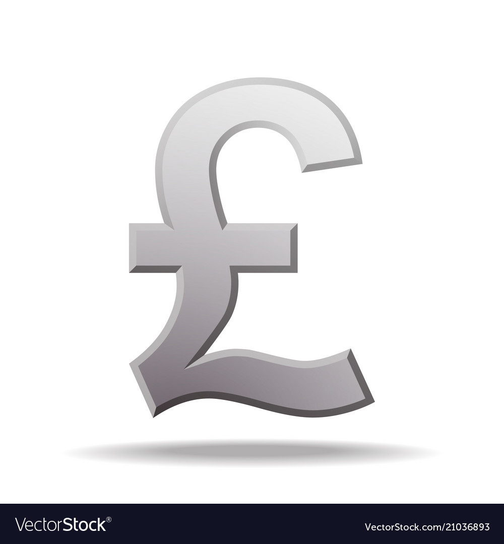 Pound Currency Symbol Royalty Free Vector Image