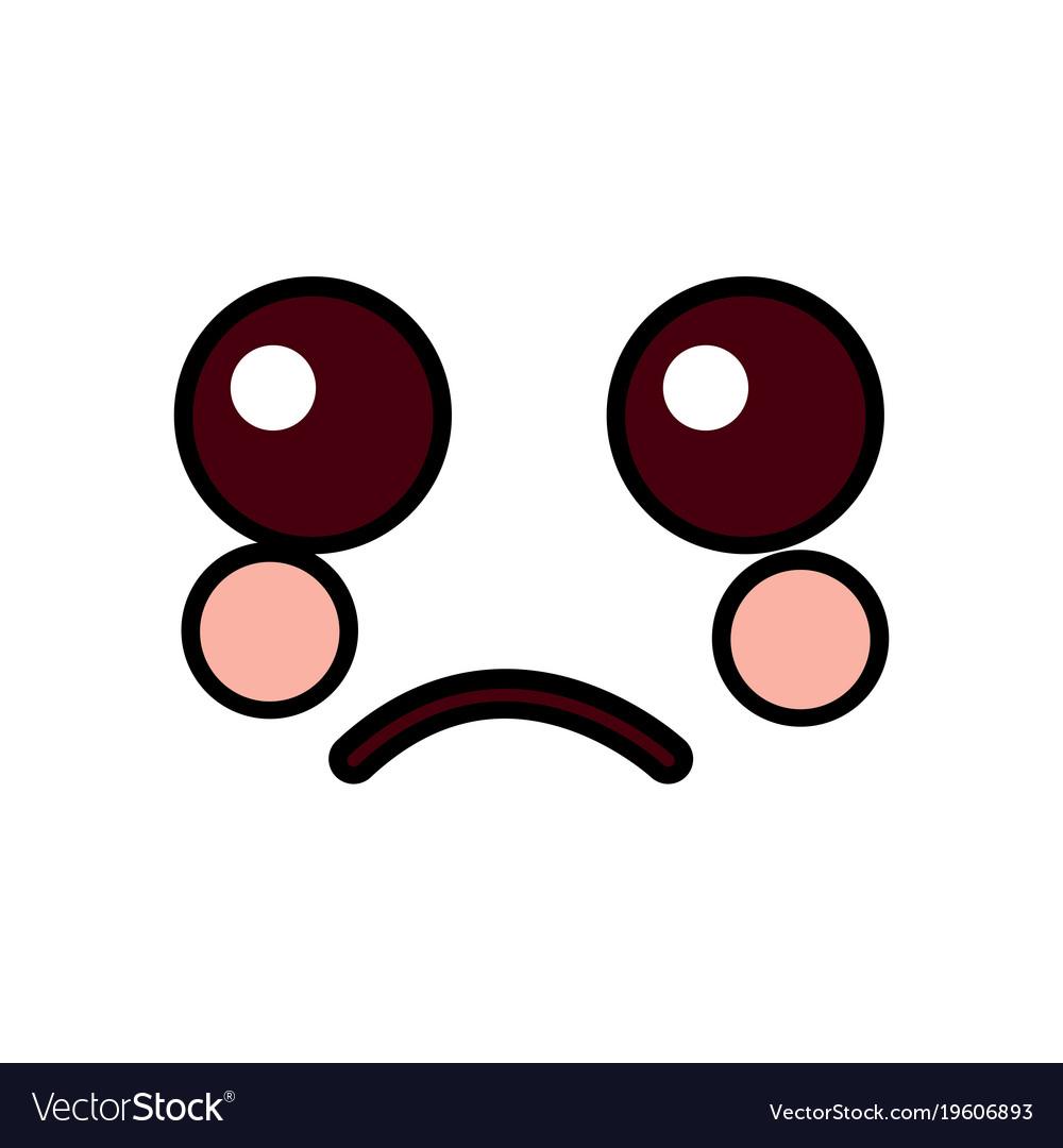 sad face emoji icon image royalty free vector image