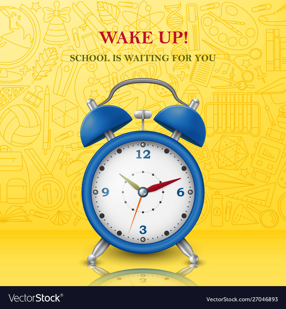 Wake up background with alarm clock