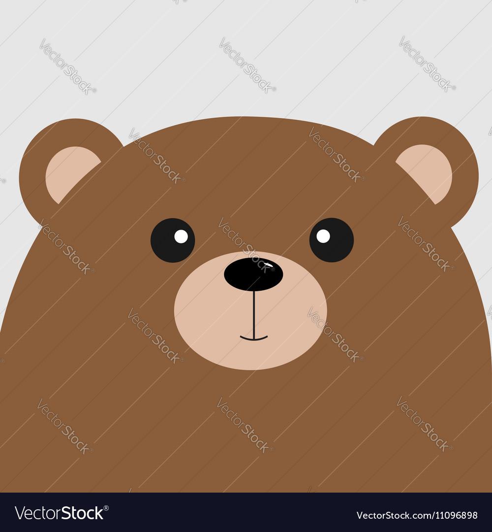 Bear grizzly big head Cute cartoon character Vector Image