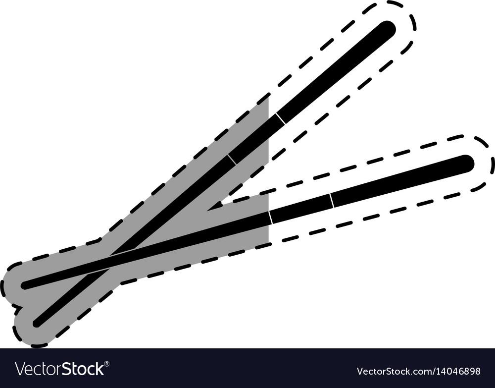 Chopstick japanese cutlery icon