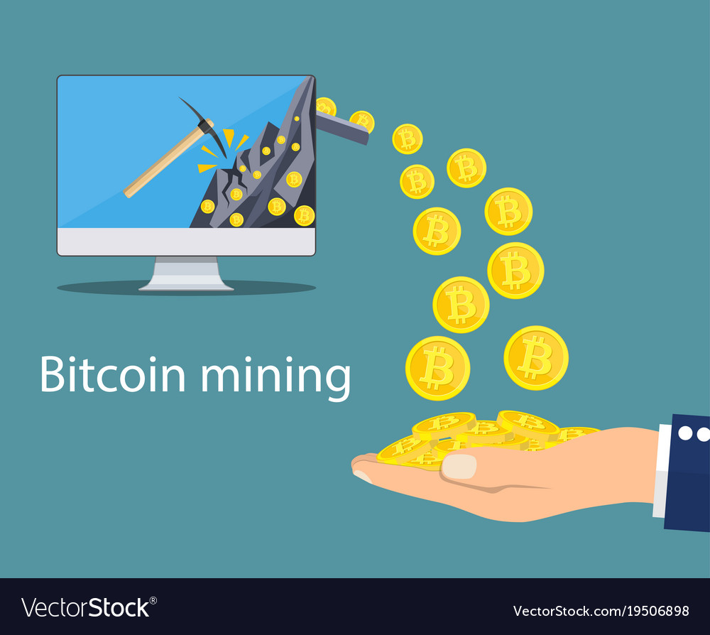 Concept of cryptocurrency technology vector image