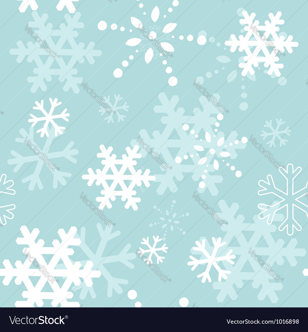 Decorative winter Christmas seamless texture vector image