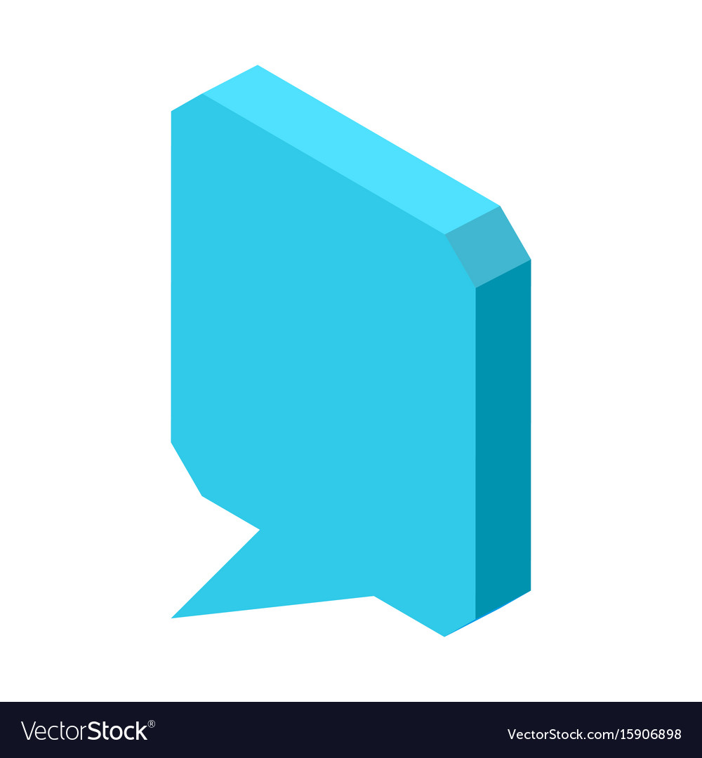 Empty square blue chat cloud icon isolated vector image