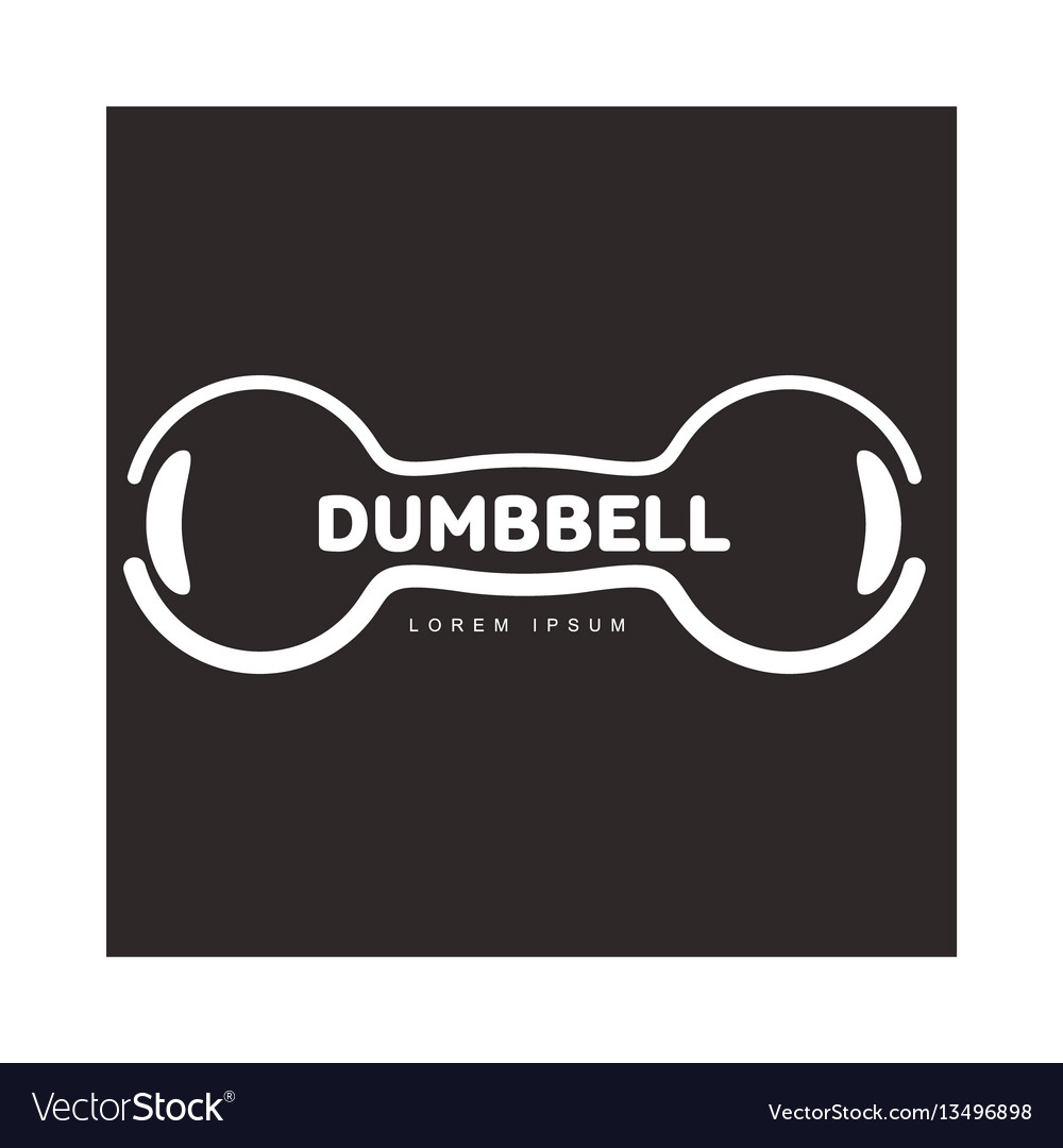 Graphic logo template with horizontal iron cast