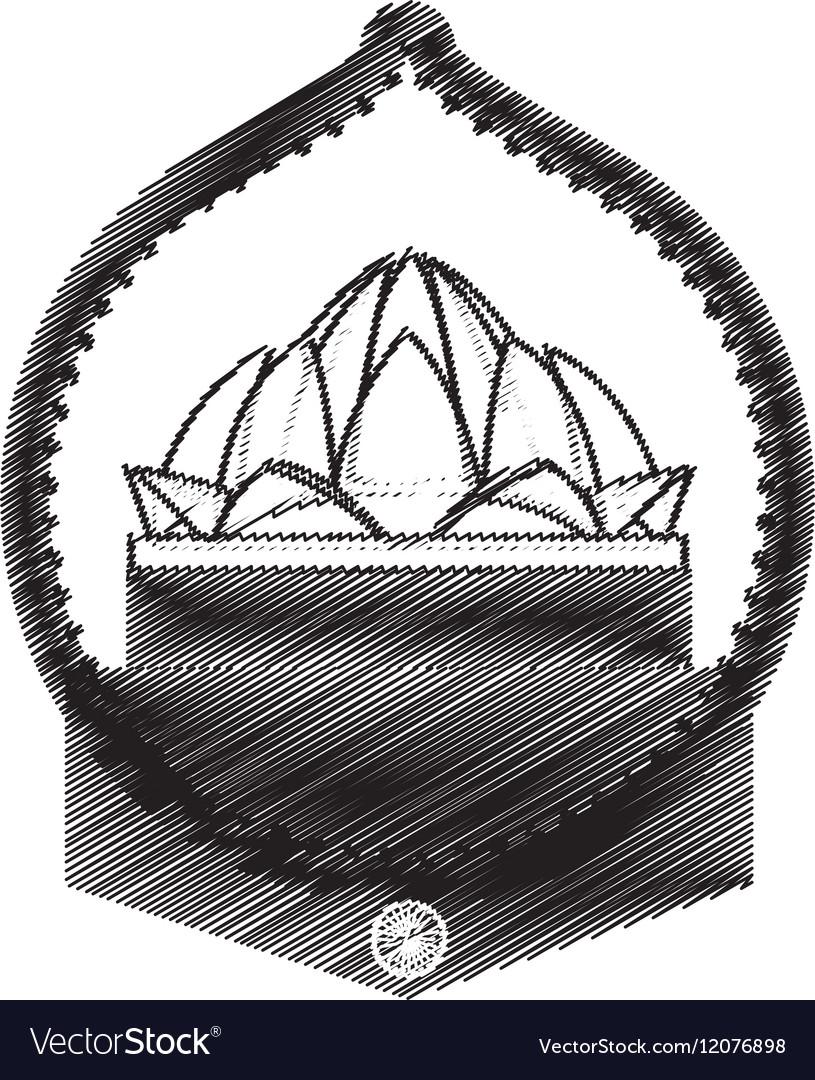 Hand Draw Lotus Flower Ornament Design Royalty Free Vector