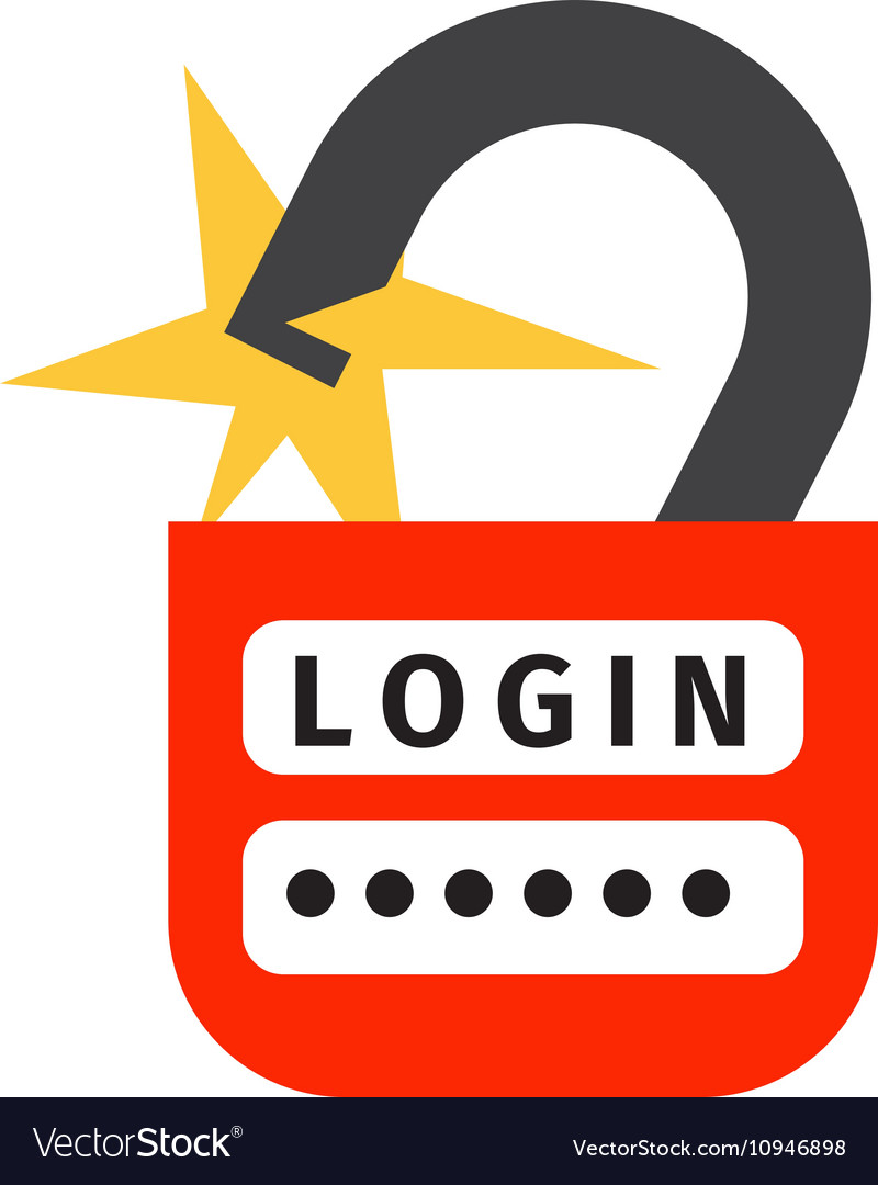 Internet Safety Icon Isolated Royalty Free Vector Image