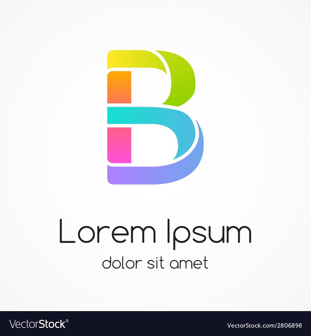 logo letter b company design template vector image