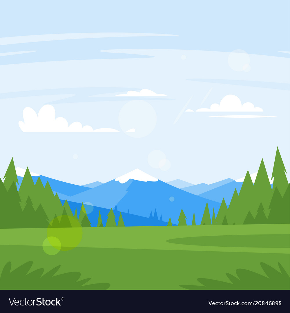 Rocky mountains and forest