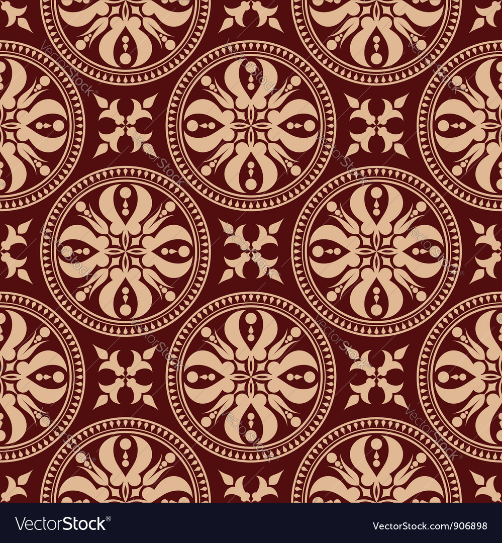 Rococo seamless pattern vector image