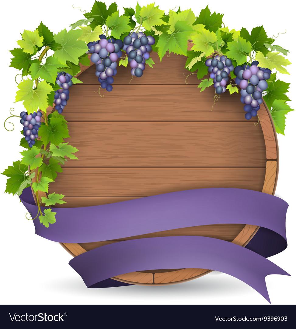 Barrel grape purple ribbon