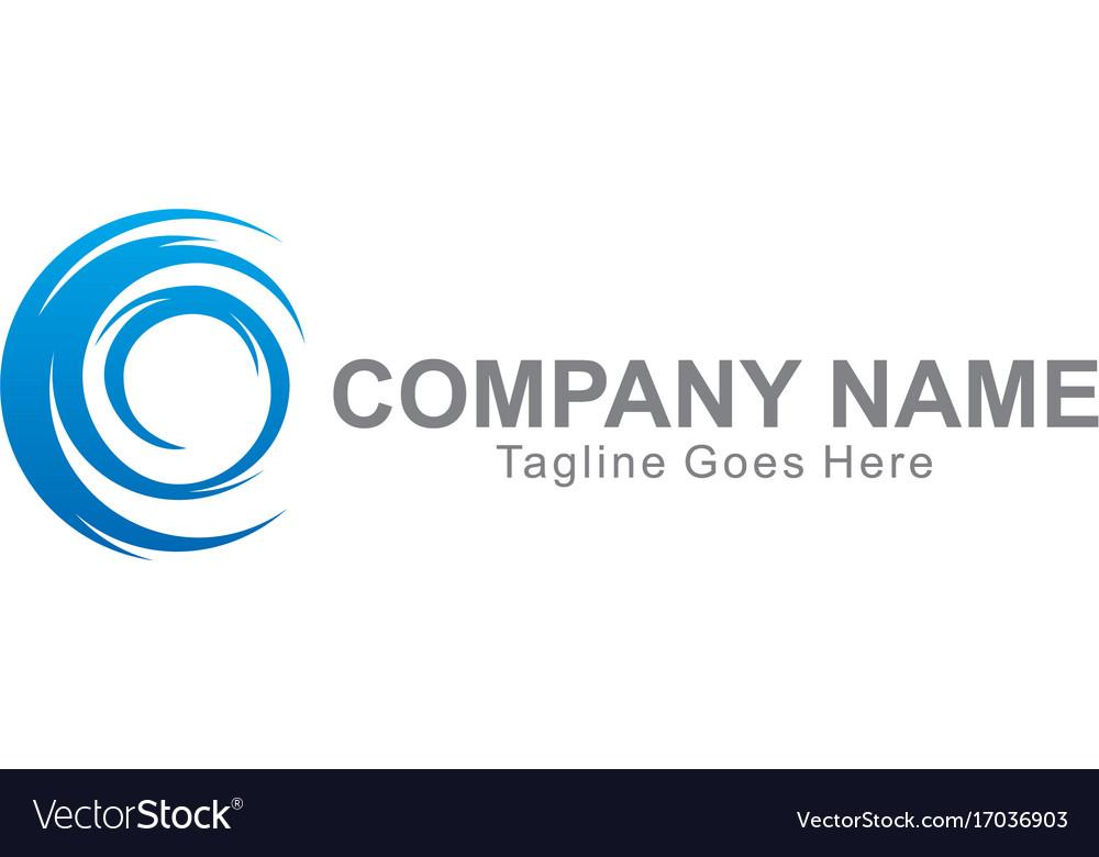 Circle swirl abstract company logo vector image