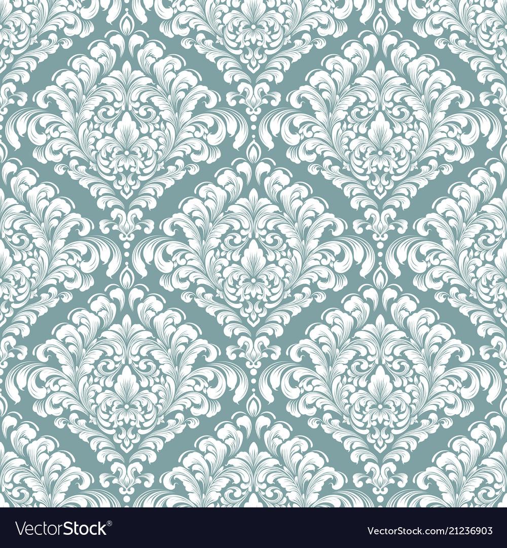 Damask seamless pattern background