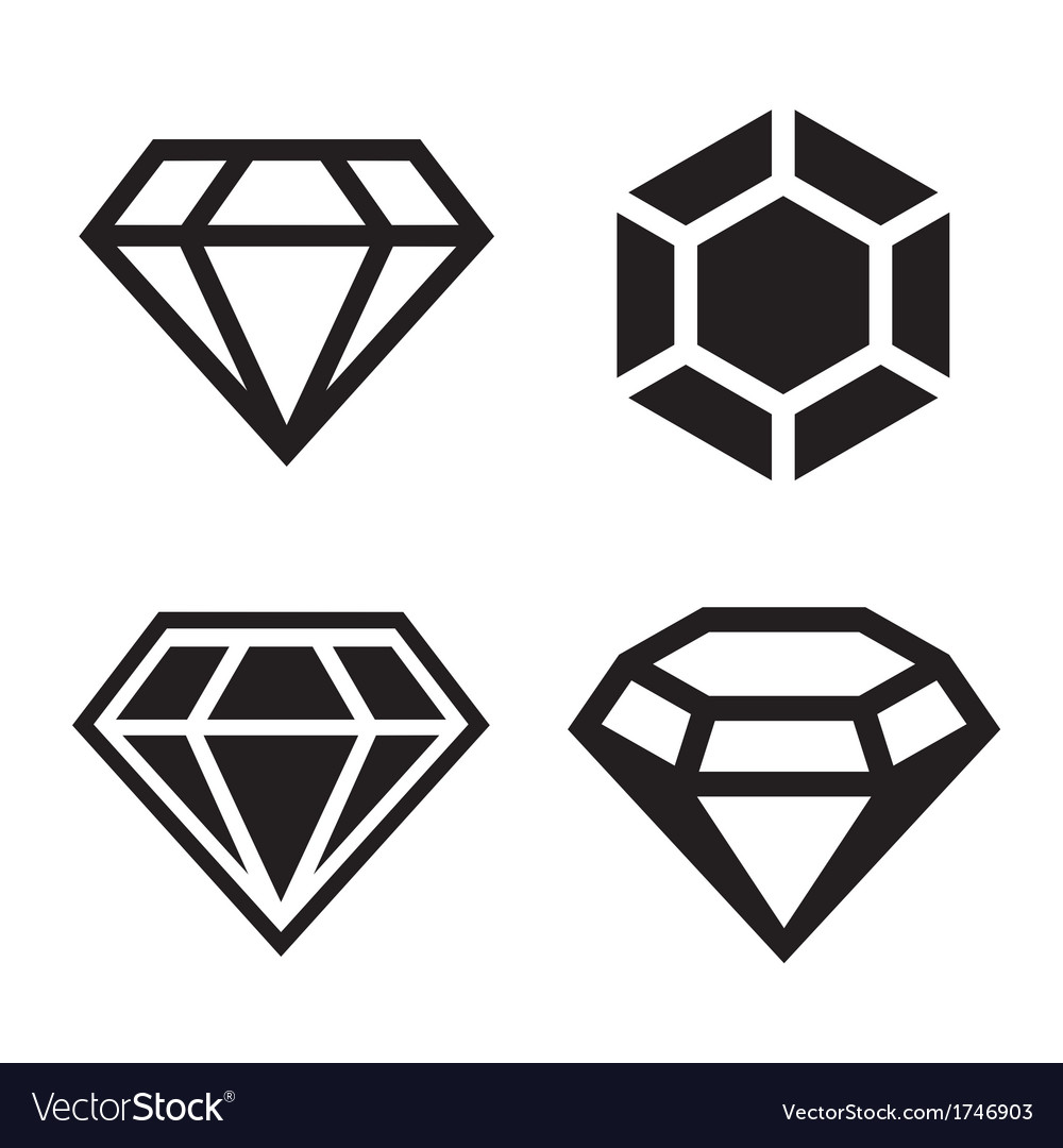 diamond icons set royalty free vector image vectorstock rh vectorstock com vector diamond design vector diamond pattern