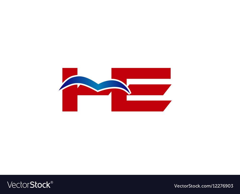 HE Logo Graphic Branding Letter Element