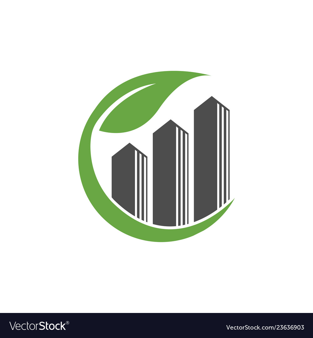 Real estate nature house logo template