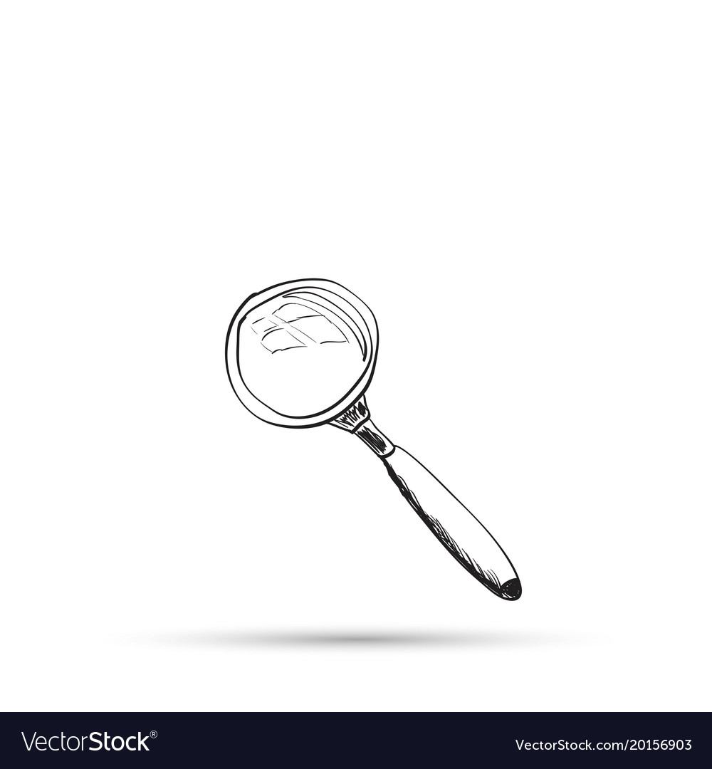Sketch Of A Magnifying Glass Royalty Free Vector Image