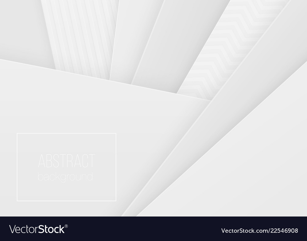 Abstract volumetric 3d geometric paper cuted art
