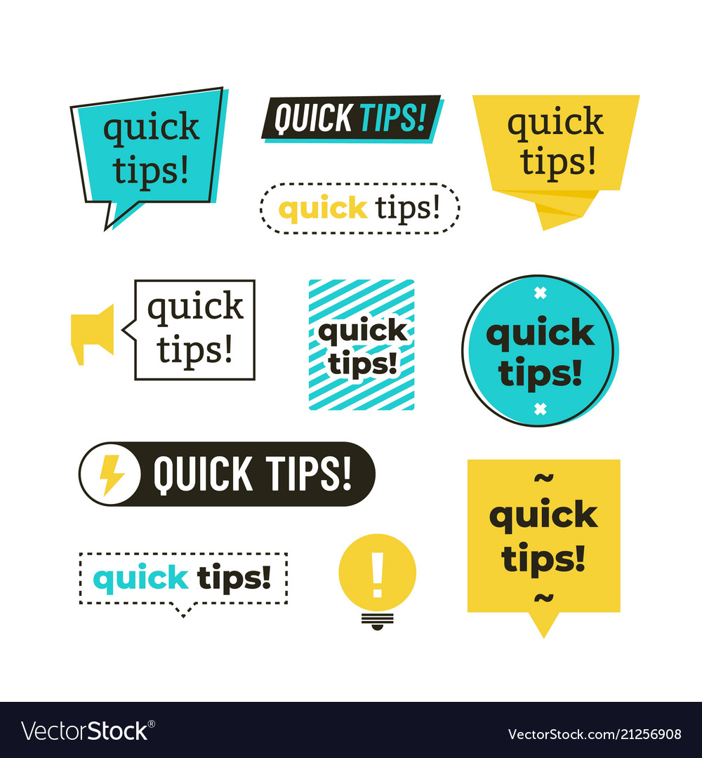 Advice tip quick tips helpful tricks and