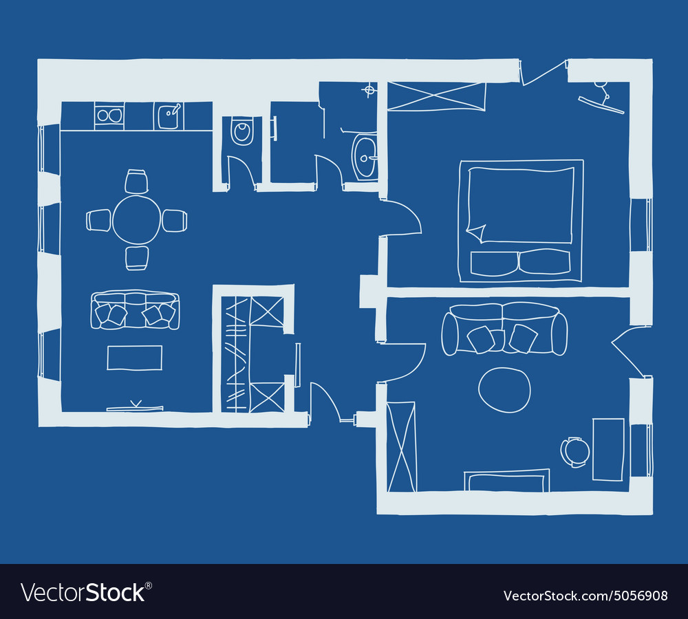 Architecture blueprint plan royalty free vector image architecture blueprint plan vector image malvernweather Gallery