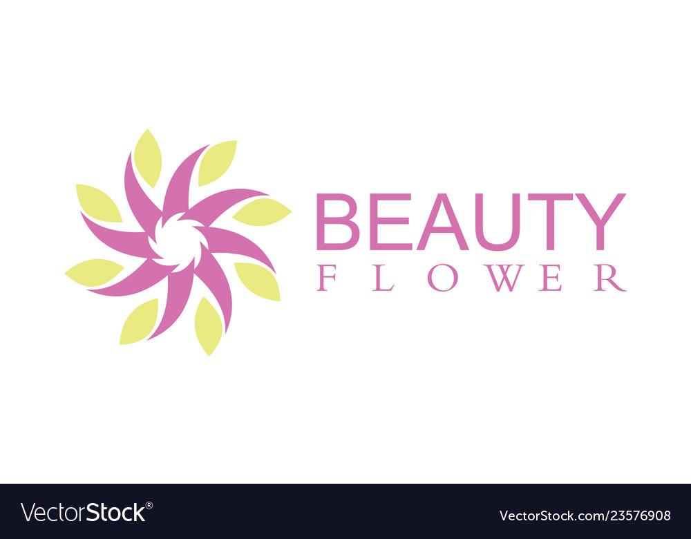 Beauty flower logo