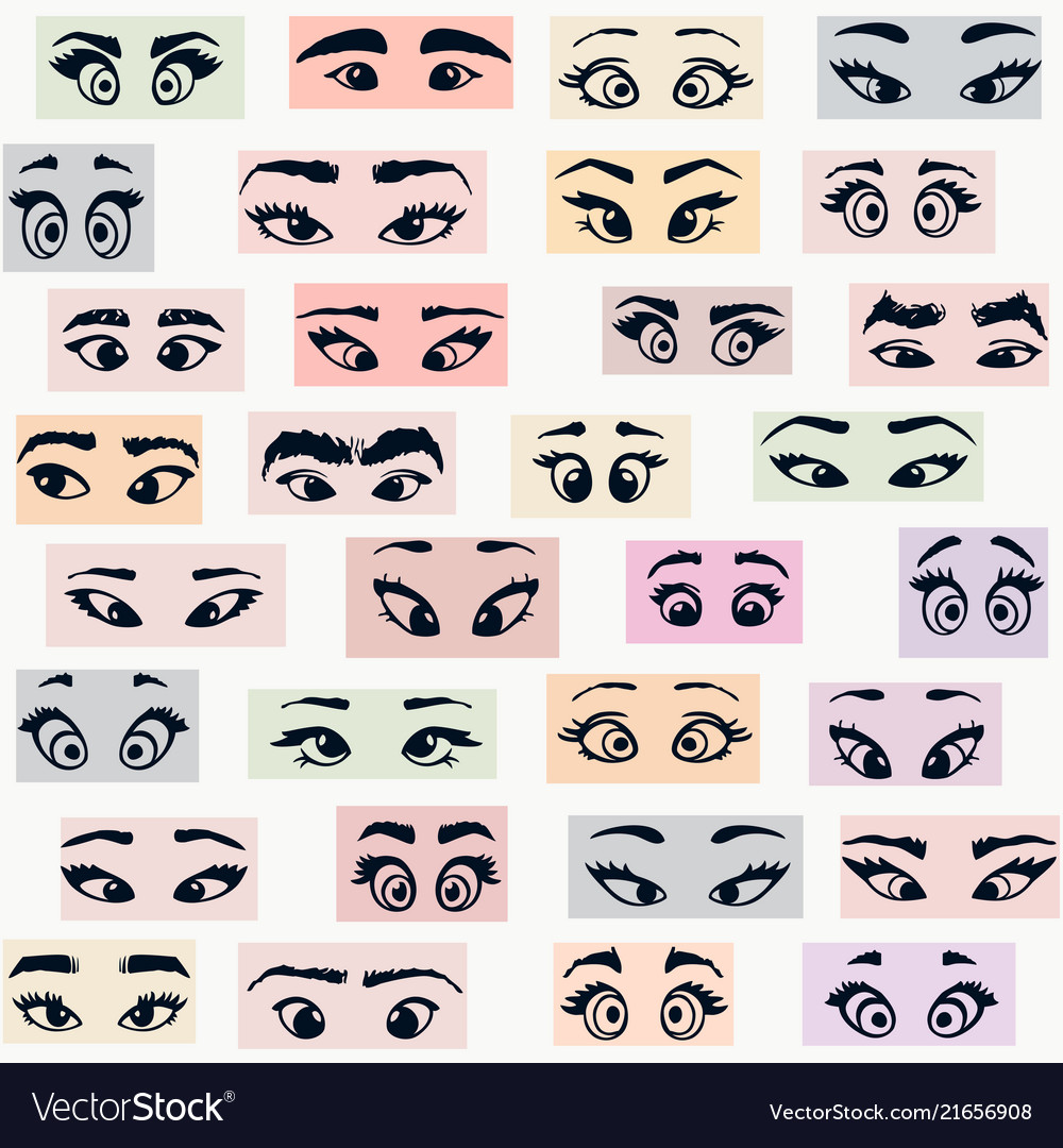 Cartoon eyes colors
