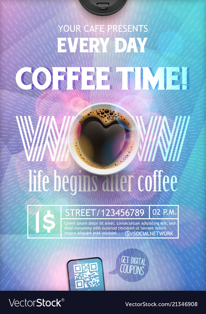 Coffee time flyer template