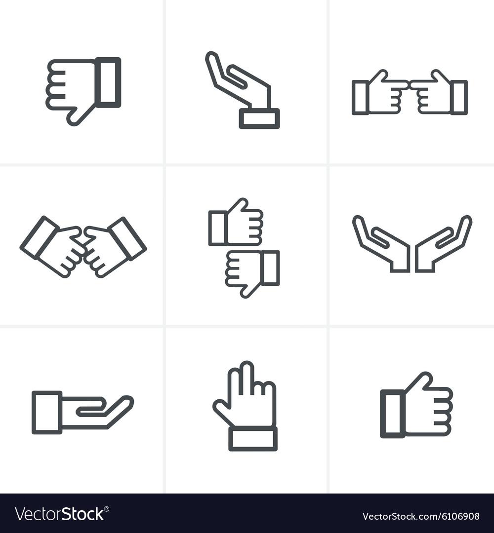 Hand gesture black icons