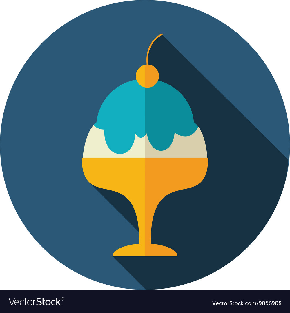 Ice Cream flat icon Summer Vacation vector image