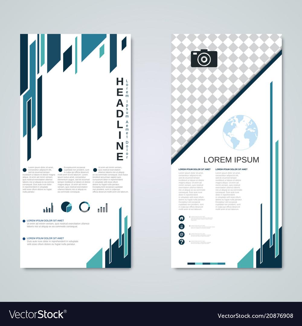 Modern roll-up banner design template
