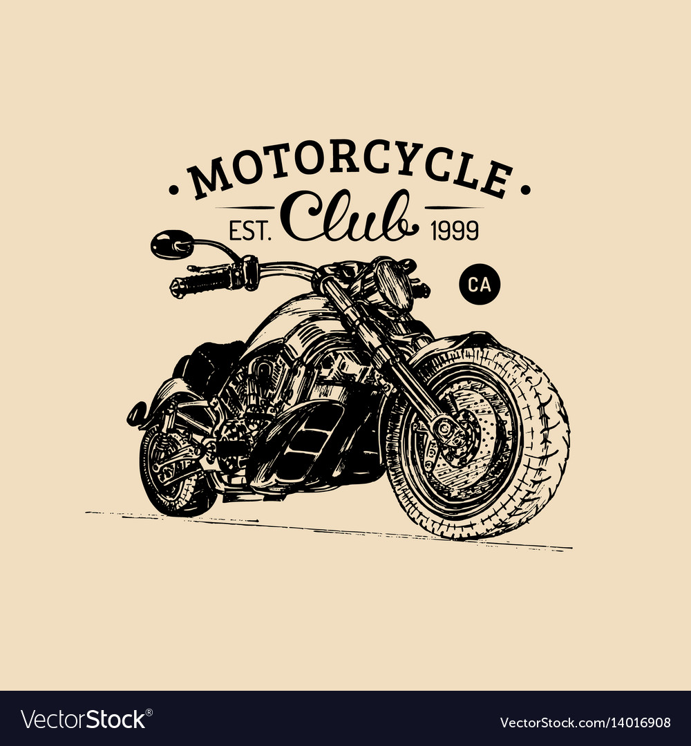 Motorcycle advertising poster sketched