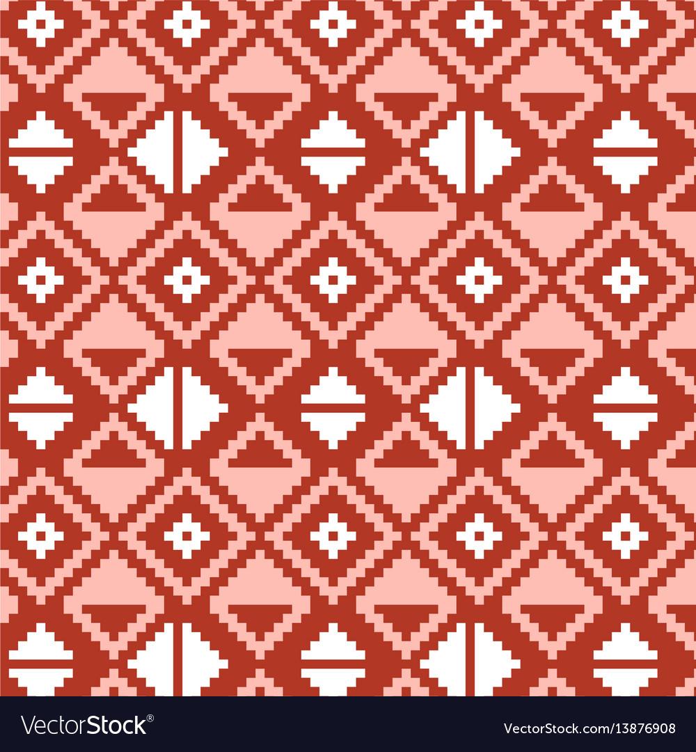 Pixel triangles seamless pattern