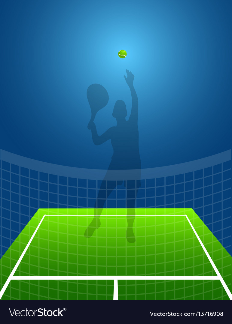Sport background tennis man