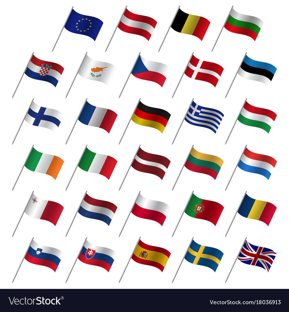European union country flags 2017 member states
