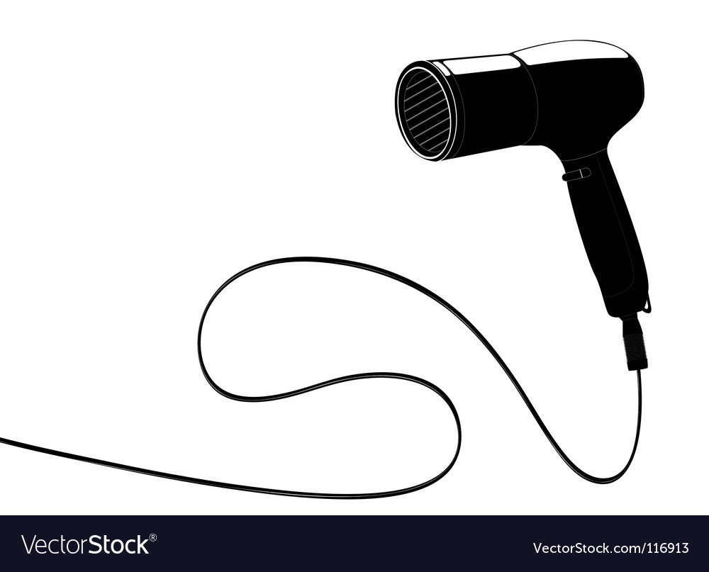 Hairdryer with cable vector image