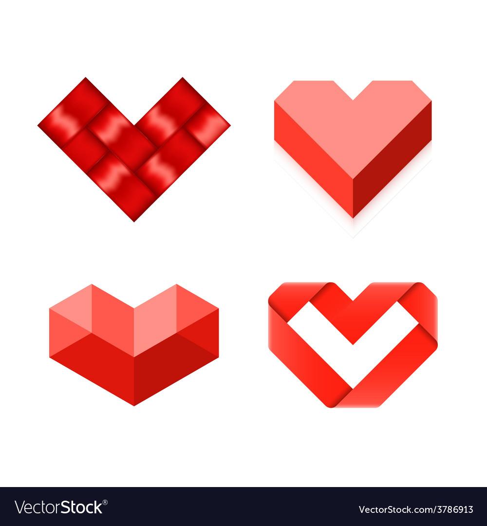 Heart Shaped Symbols Royalty Free Vector Image