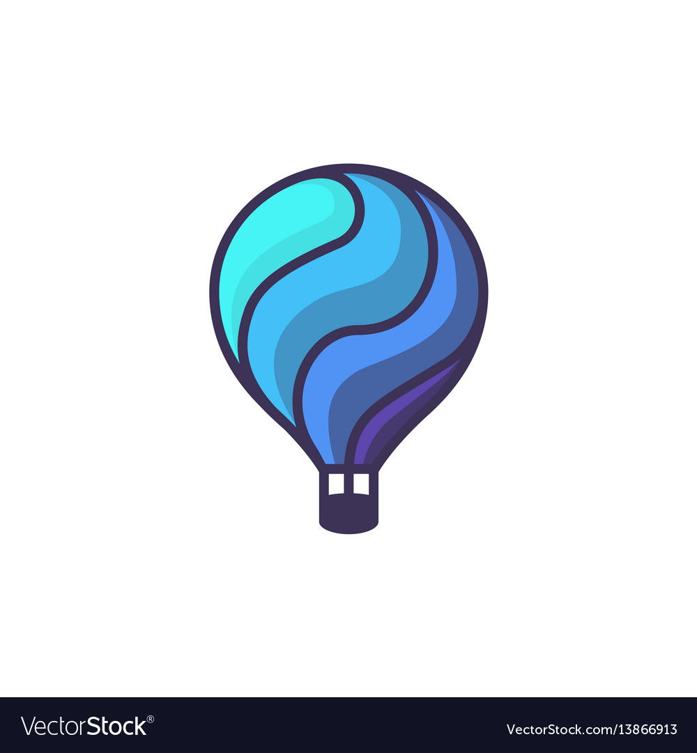 Hot air baloon logo cartoon of hot vector image