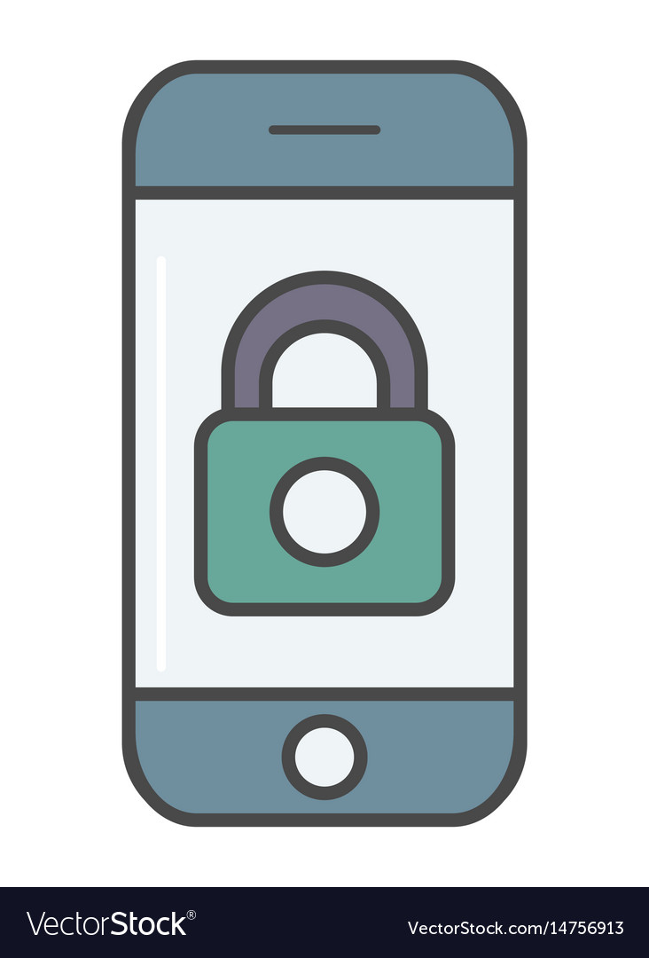 Mobile security system pictogram