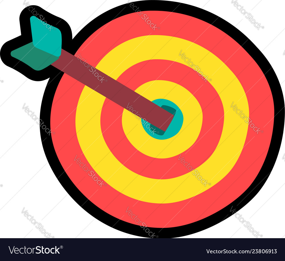 Target with arrow cartoon color