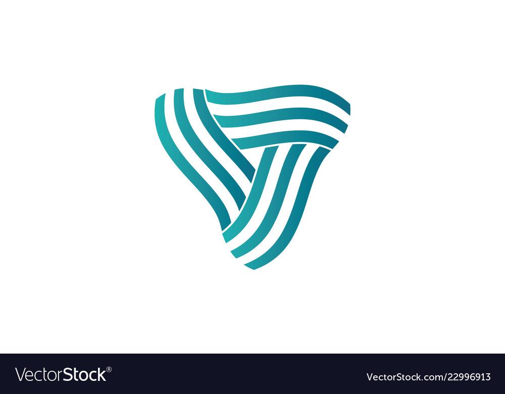 Triangle swirl logo