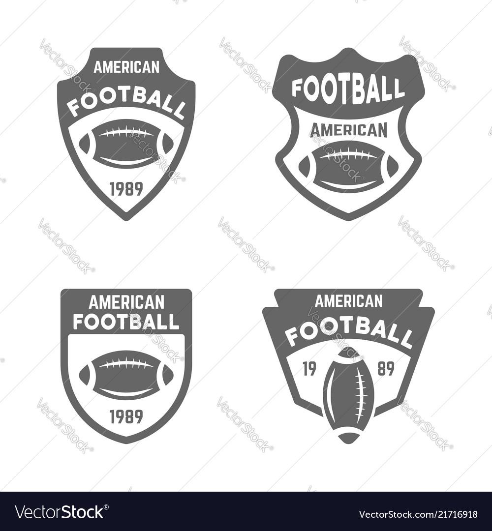 American football black badges or emblems