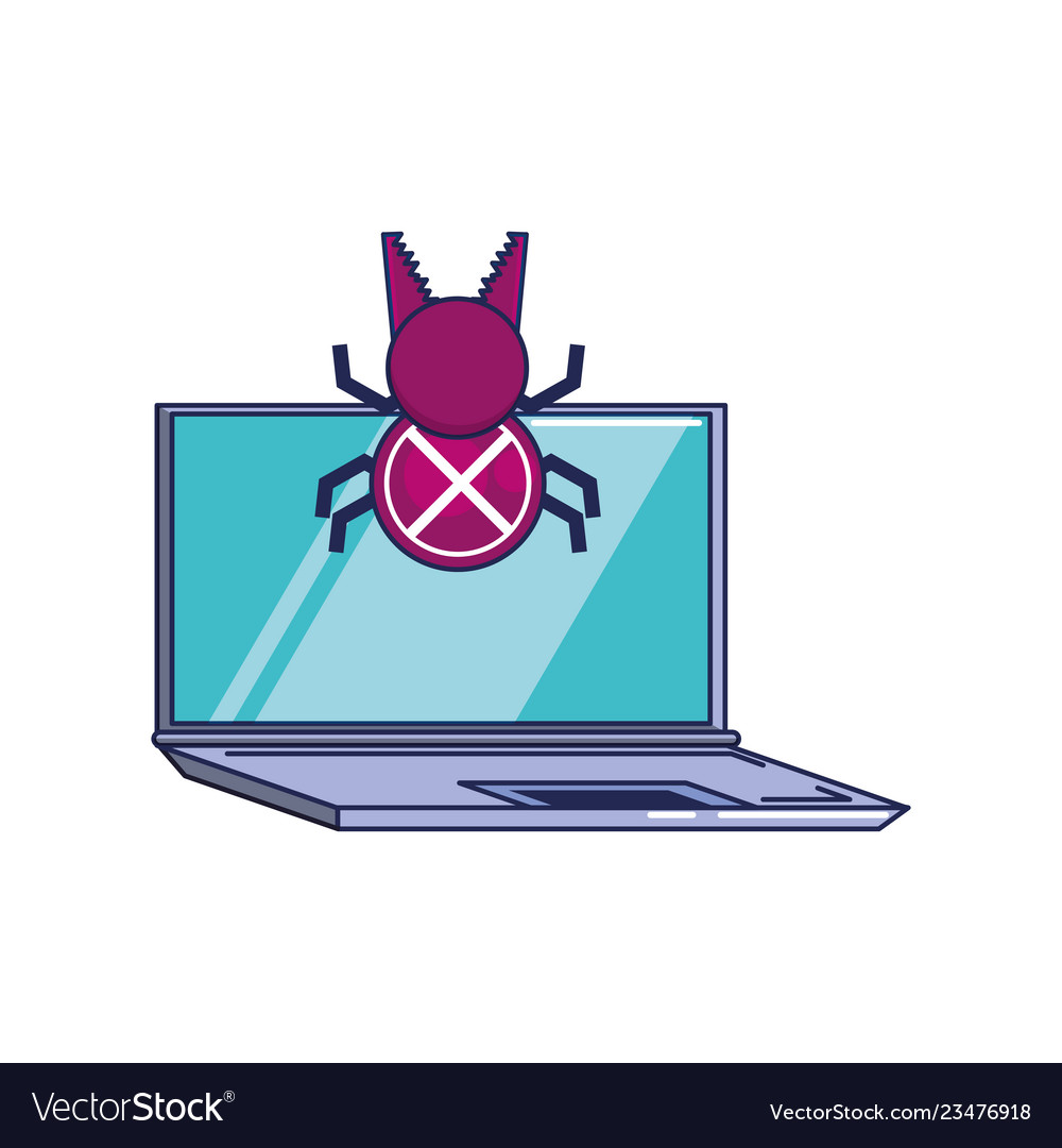 Bug virus infection icon