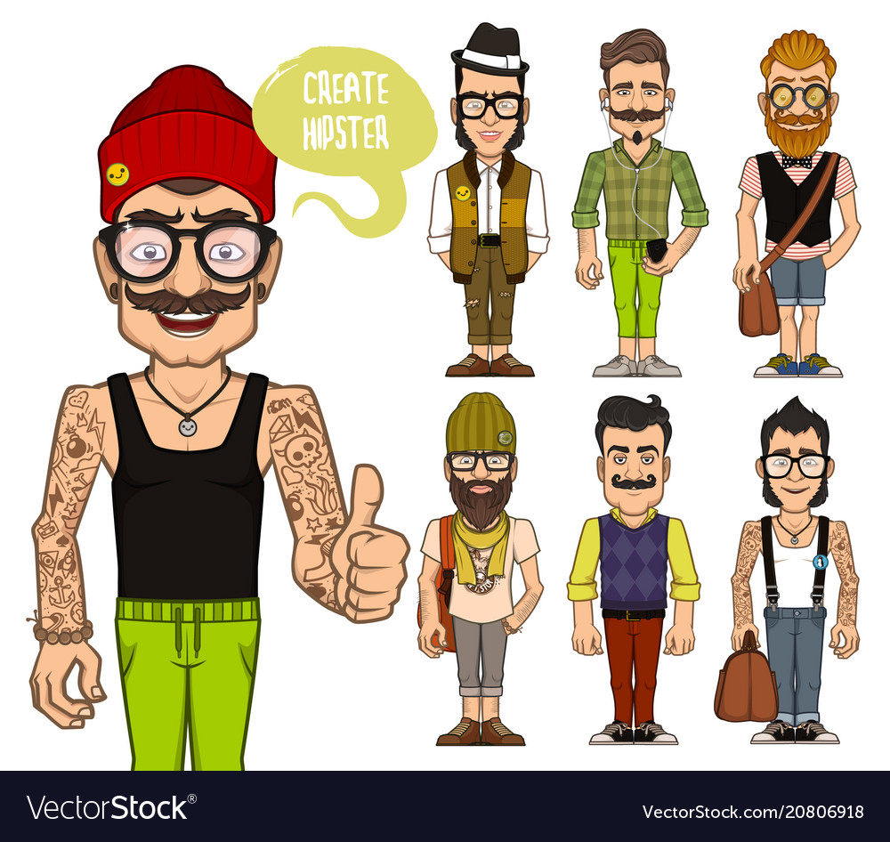 Create hipsters characters part 2