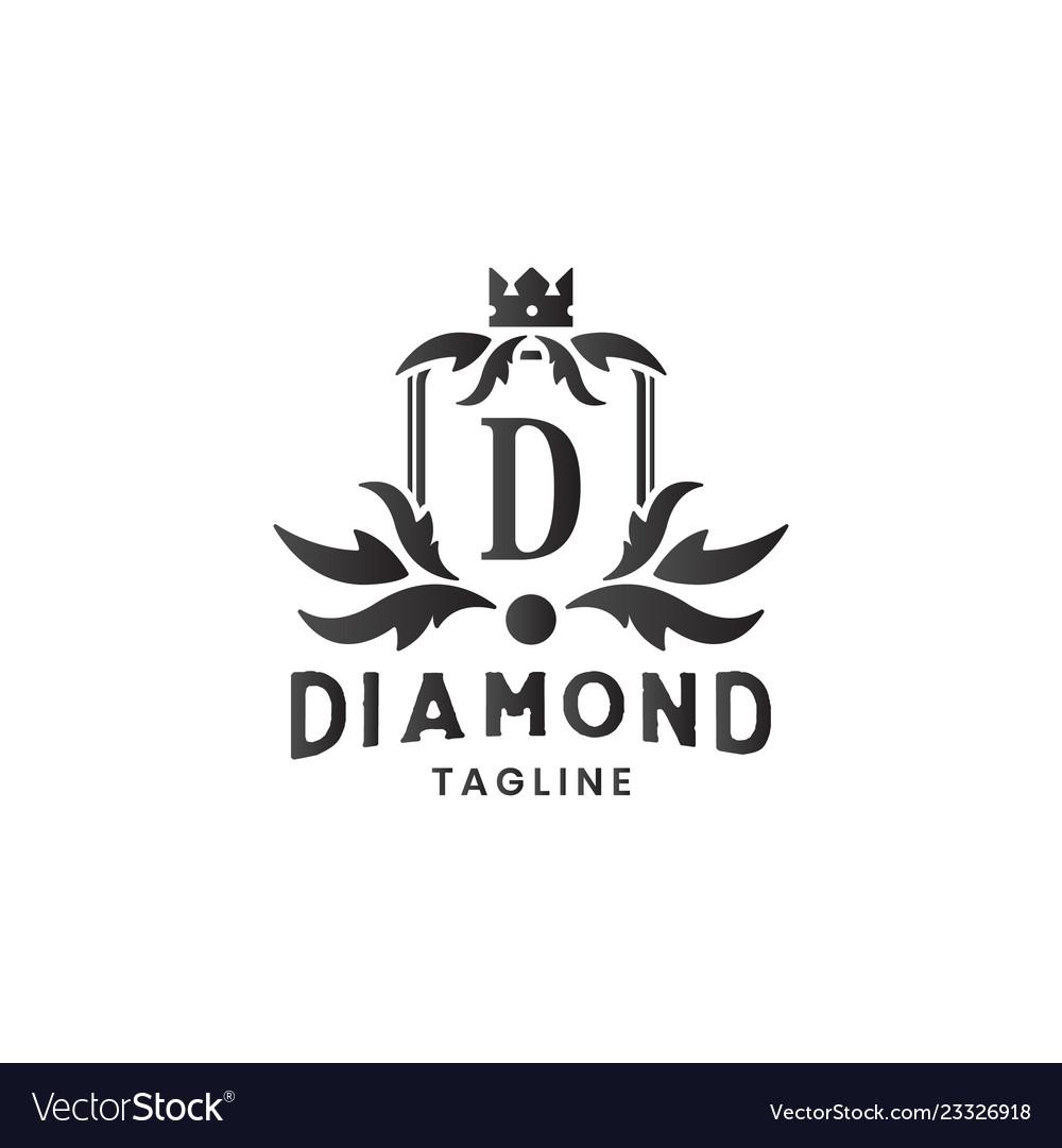 Diamond jewelry luxury logo design template